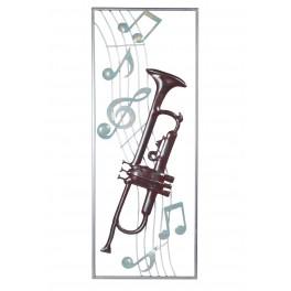 Déco Cadre Métal : Jazz Band, H 90 cm