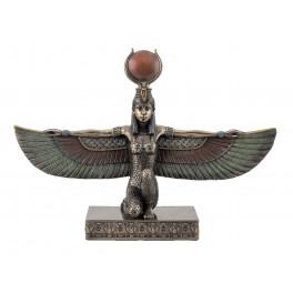Statuette résine Egypte : Déesse et Reine Isis, L 26 cm