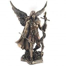 Statuette résine : L'archange Saint Gabriel, H 24 cm