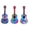 Set 3 magnets Frigo : 3 Guitares, Carreaux de Ciment, L 13 cm