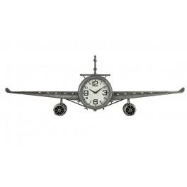 Déco Industrielle Murale : Horloge Avion et Rivets, L 143 cm