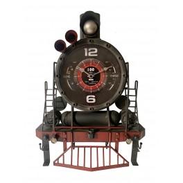 Déco Industrielle Murale : Horloge Train Locomotive, H 48 cm