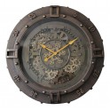 Horloge Murale industrielle Cadran Chrono Mordoré, H 60 cm