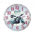 Horloge 100% Métal Thème Moto : Mod Motorbike, Diam 40 cm