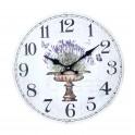 Horloge murale lavande de Provence, 34 cm