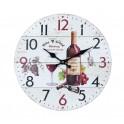 Horloge rétro Vin : Modèle Chardonnay Rouge avec grappes de raisins. H 34 cm