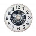 Horloge Industrielle MDF, Modèle Noir, H 34 cm