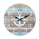 Horloge MDF Mer : Mod Sail & Dream, Diam 34 cm