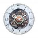 Horloge Industrielle MDF, Modèle Gris, H 34 cm