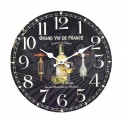 Horloge rétro : Bouteille de Vin Blanc et Verre. Diam 34 cm