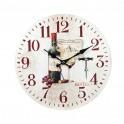 Horloge rétro : Bouteille de Vin Rouge. Diam 34 cm