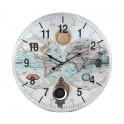 Horloge Vintage : Modèle 2 Terres, Diam 58 cm