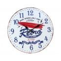 Horloge Rétro Métal : Modèle Planche de Surf, Diam 40 cm