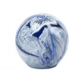 Décoration Sulfure en Verre et Presse Papier, Planète Inconnue, Diam 8 cm