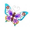 Papillon Mural XL en Fer : Collection Spring, Bleu, L 42,5 cm
