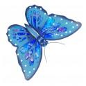 Papillon Mural en Fer : Collection Blue Ice, L 49 cm