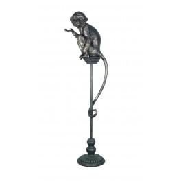 Grande Statuette sur Socle : Petit Singe en résine Antic Line, H 107 cm
