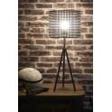 Lampe en Métal Noir : Style Industriel, Modèle Atelier. H 73 cm