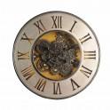 Horloge Murale à Engrenages, Modèle Beige et Ambré, Diam 60 cm
