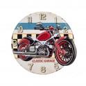 Horloge Métal : Modèle Moto, Diam 40 cm