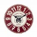 Horloge Métal Rouge & Blanche : Modèle Rouge 66, Diam 34 cm