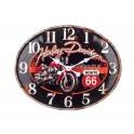Horloge Moto en Métal, modèle Harley Davidson et Route 66, L 49 cm