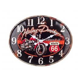 Horloge en Métal, Thème Moto : Rouge et Noir. L 49 cm
