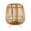 Lanterne en Bois de Bambou sur Pieds, Collection Zen. H 42 cm