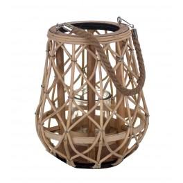 Lanterne en Rotin, Collection Zen. H 26 cm