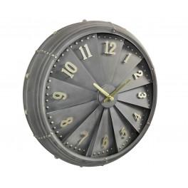 Horloge Murale industrielle : Moteur d'avion et Ailettes, H 63 cm