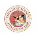Horloge Vintage Rouge : Modèle Chocolat Maison. D 34 cm