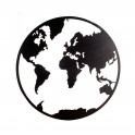 Silhouette Murale Métal : Planisphère 1 cercle, D 80 cm