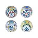 Set 4 Photophores Indiens, Mandalas Colorés, Diamètre 10 cm