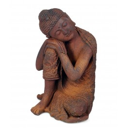 Statue Magnésie : Bouddha & Méditation 3, Mod Banteai, H 35 cm