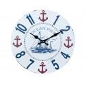 Horloge MDF Mer : Mod Marina Club, Diam 34 cm