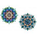 Set 4 Dessous de plat Céramique : Modèle Soleil Coloré, L 20 cm