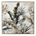 Tableau Tropical Design et Cadre : Feuillage d'or, H 80 cm