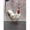 Animal Déco : Le Coq Charmant, Taille XL, H 29 cm