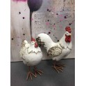 Animal Déco : Duo Coq & Poule Charmants, Taille S, H 16 cm