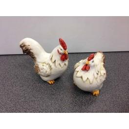 Duo poulettes charmantes, Taille XS, H 7,5 cm