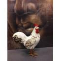 Animal Déco : Le Coq Charmant, Taille L, H 22 cm