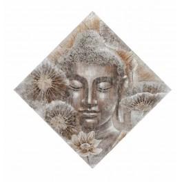 Tableau moderne Bouddha : Rares sont ceux qui voient, H 100 cm