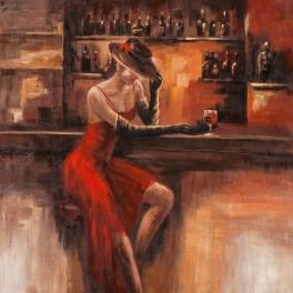 Tableau Femme :Un soir à bangkok, H 100 cm